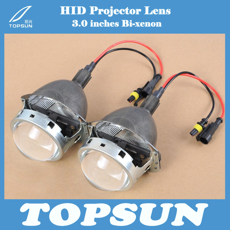 Free Shipping Car Auto Parts 3.0 inch BI-XENON Q5 HID Projector Lens H1 H4 H7 H11 9005 9006 Socket With 35W Exclusive Xenon Bulb gztophid 3 bifocal q5 projector lens 35w hid bulb shroud and high low beam control wire for h1 h4 h7 h11 9005 9006