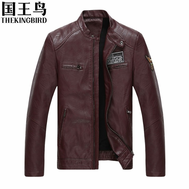 Men's jackets Autumn and winter collar Slim Men PU leather jacket Casual fashion military locomotive Men's leather Clothing