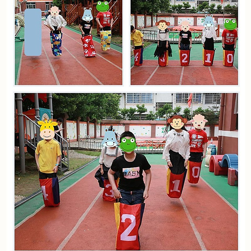 Kids Jumping Game Jumping Bag Outdoor Games For Children Sports Balance Training Toy Jump Bag Educational Toys Family Sack Rac