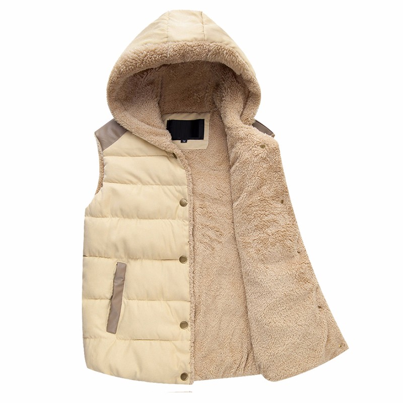 Winter Vest Men Male Hooded Thick Warm Fleece Men\'S Vests Fashion Mens Vests Sleeveless Jacket Chaleco Hombre (2)