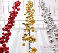 1.8Meters Gold/Red/Silver Ball Suspension ornament Strap Garland Christmas Tree Holiday Venue Decoration