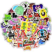 TD ZW 50Pcs Funny Little Monster Robot  Stickers For Doodle Suitcase Laptop Car Motorcycle Scrapbooking Skateboard Sticker
