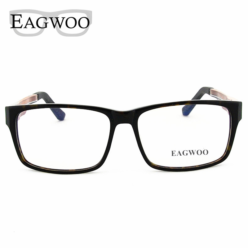 eab3f54e32 Ebony Wooden Eyeglasses Wood Fashion Prescription Optical Frame Man Full  Rim Spectacel Fashion Big Face Myopia Glasses 81106834-in Eyewear Frames  from ...