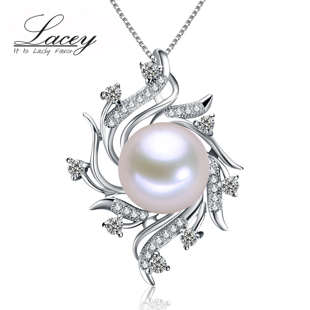 Мода пресноводный жемчуг ювелирные изделия кулон женщин 925 серебряный, белый настоящее природный жемчуг кулон изящных ювелирных изделий матери день рождения подарки