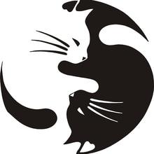 SLIVERYSEA Mèo Ô Tô Tạo Kiểu Decal trang trí Cá Tính Cài Cửa Kính Xe Máy xe ô tô điện Miếng Dán # B1145