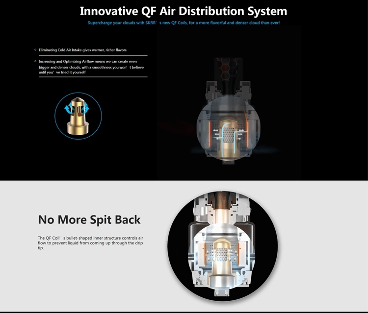 Original Vaporesso SKRR Vape Tank 8ml Electronic Cigarett Atomizer with Quadflow Air Distribution System QF Strips SK CCELL Coil (2)