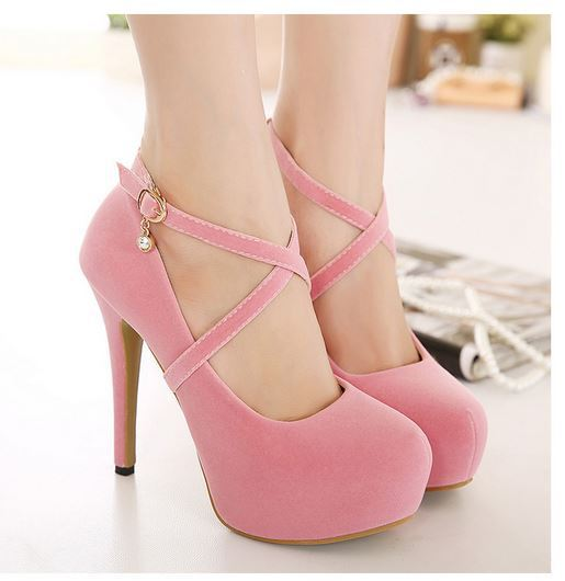2015 new hot sale women platform pump women High heeled shoes with ...