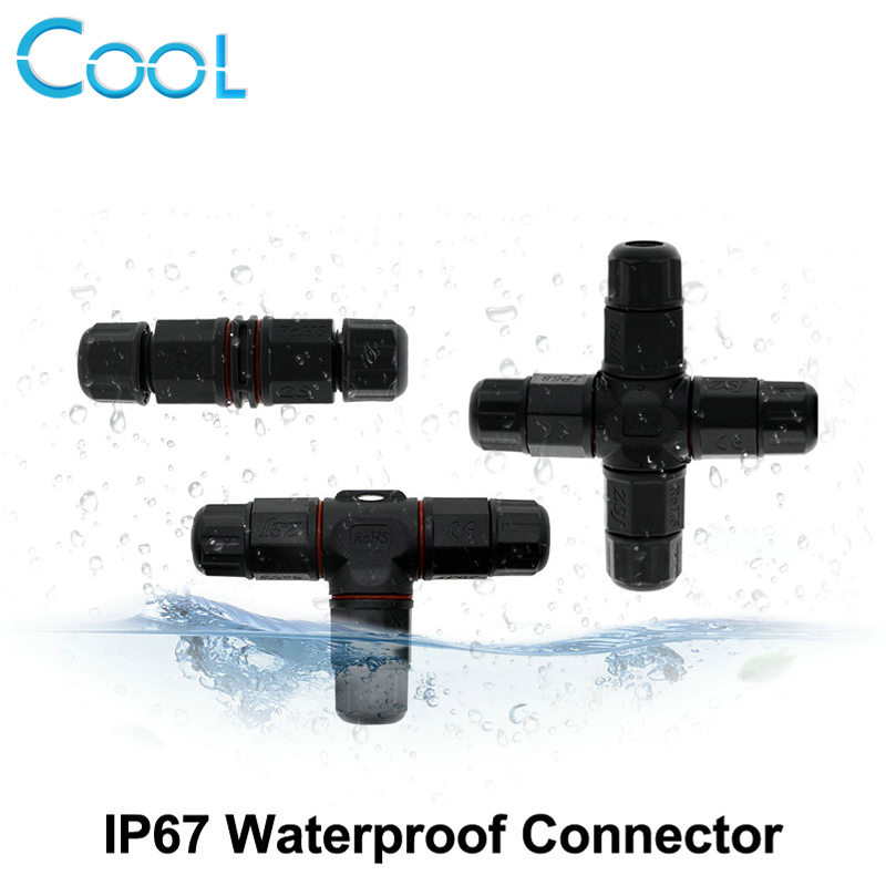Outdoor Lighting Connector 2Pin / 3Pin Straight / T Shape IP67 Waterproof Connector sitemap 399 xml
