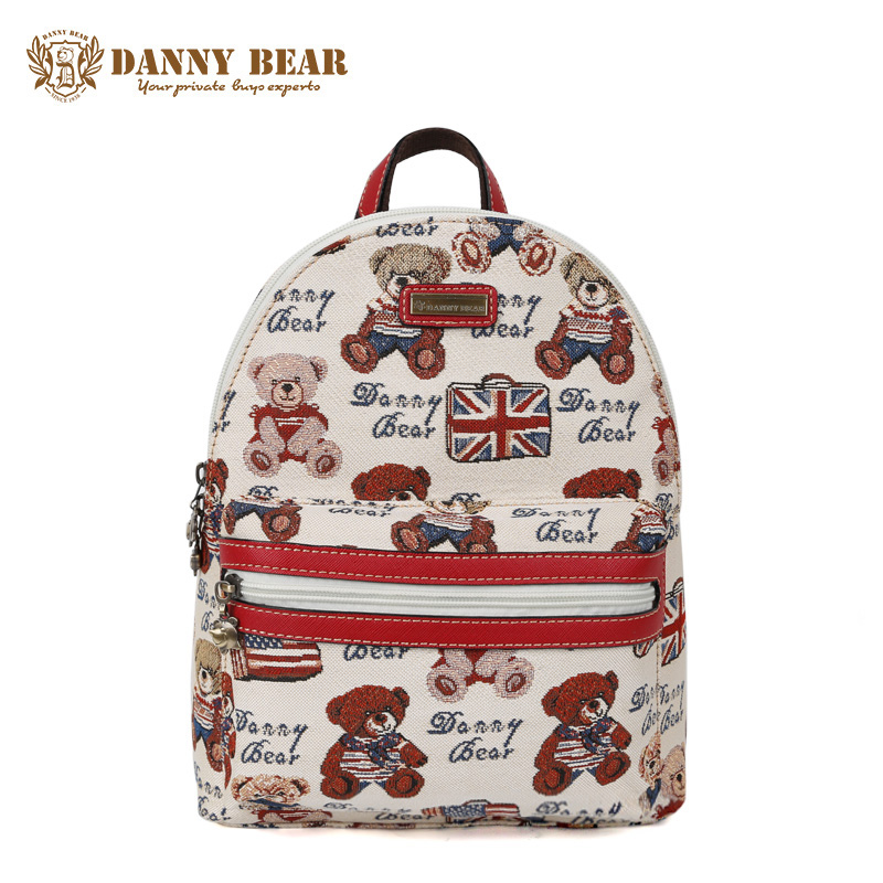 DANNY BEAR Women Fashion Design Backpacks Teenage Girls Korean Cheap Schoolbag Backpack Female Causal Large Travel Back Pack Bag danny bear women vintage leather backpack cheap cute school backpacks for teenage girls large shoulder bags man travel daypack