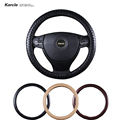Karcle PU Leather Car Steering-wheel Cover 38-40CM Car-styling Sport Steering Wheel Covers Anti-Slip Automobiles Accessories