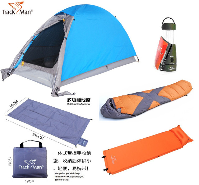 TrackMan 1 Person 5 pieces C&ing set 2 Layer Aluminum Pole Tent TM1206;Sleeping  sc 1 st  AliExpress.com & TrackMan 1 Person 5 pieces Camping set: 2 Layer Aluminum Pole Tent ...