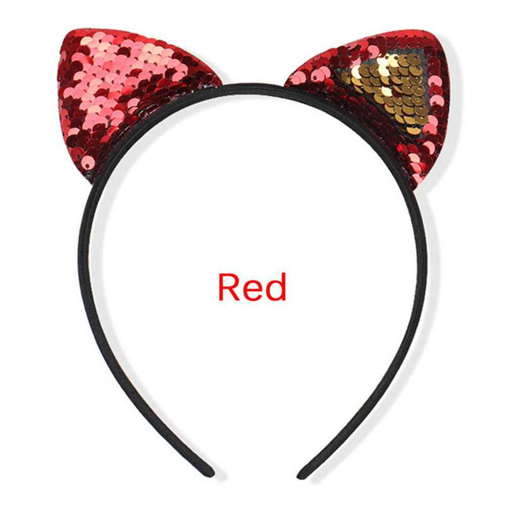 แฟชั่นเด็ก Mermaid Headband อุปกรณ์เสริมผม Bezel ของขวัญ 8 สีแมวหูผม Hoop อุปกรณ์เสริมผม Braiders