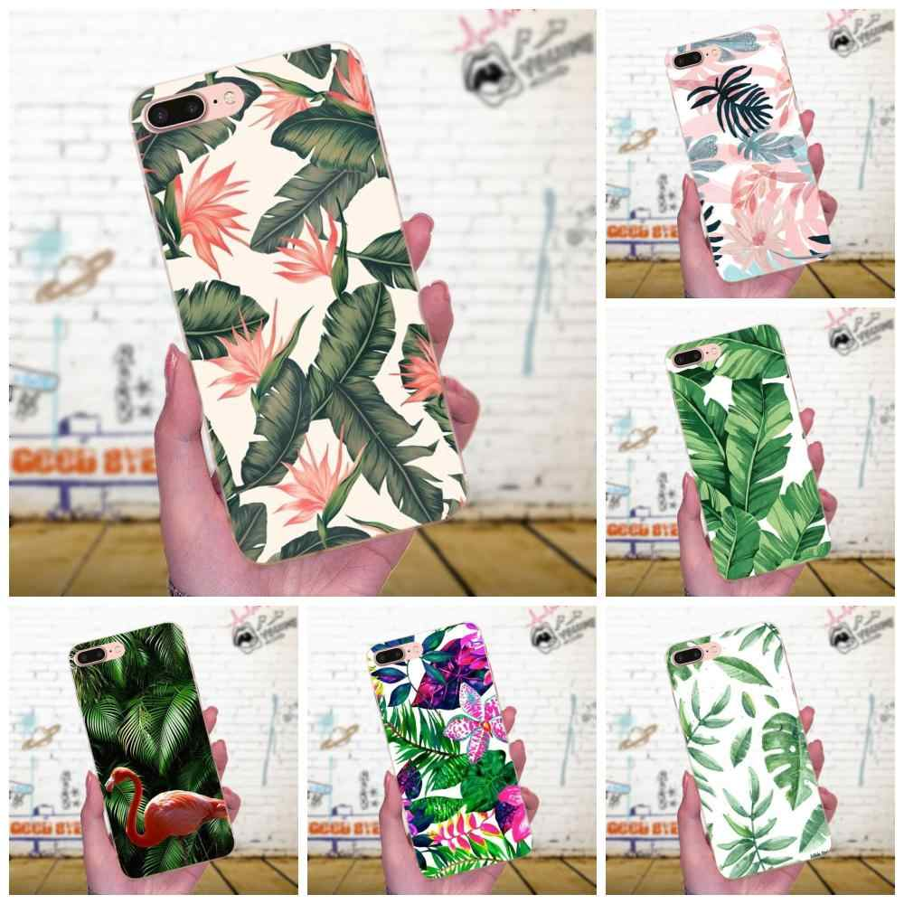 Soft TPU Wholesale For Xiaomi Redmi Note 2 3 3S 4 4A 4X 5 5A 6 6A Pro Plus Tropical Plant Banana Tree Leaves Flower