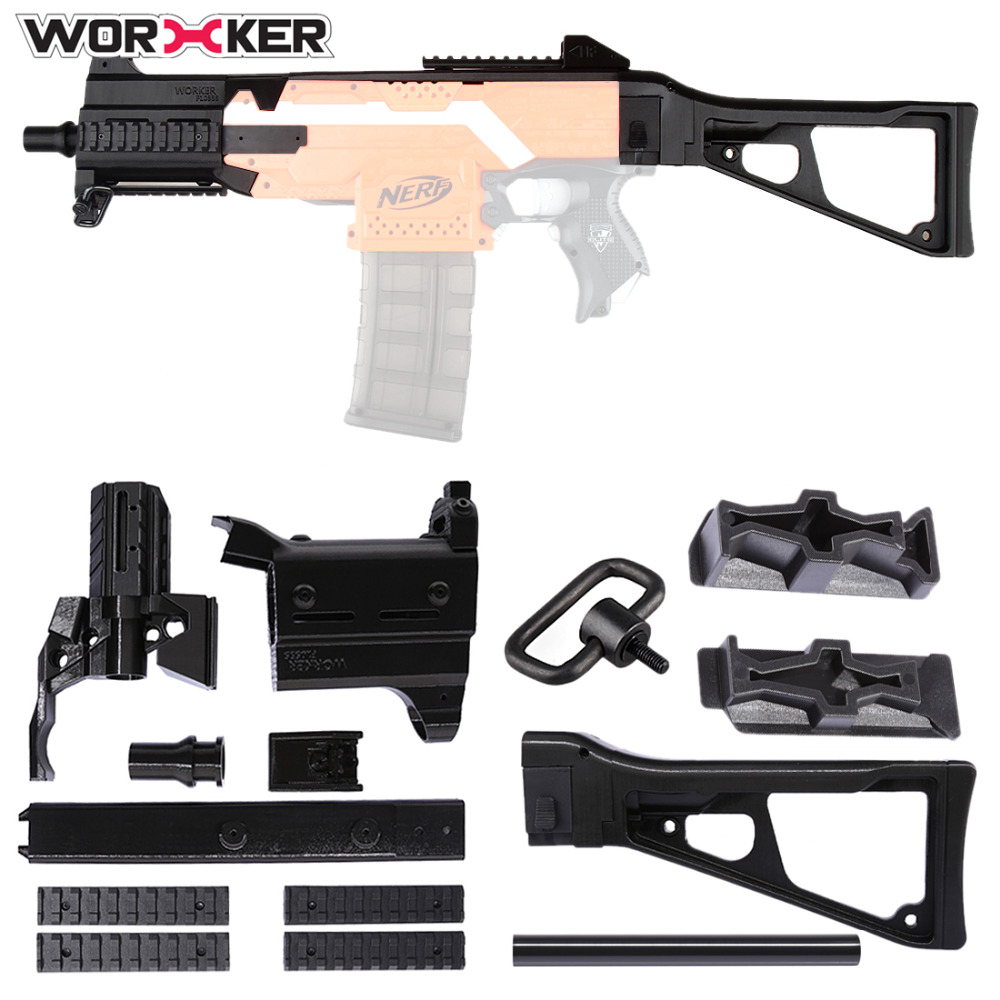 Worker F10555 3D Printing Modularized NO. 171 Front Tube Shoulder Stock Set for Nerf Stryfe - Black садовая детская тяпка truper atj kid 10555