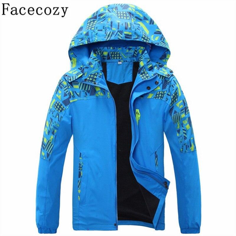 Facecozy Boys&Girls Winter Outdoor Hiking&Camping Hooded Jacket Sport Climbing&Hunting Ski Jackets Children Warm Snowboard Coat