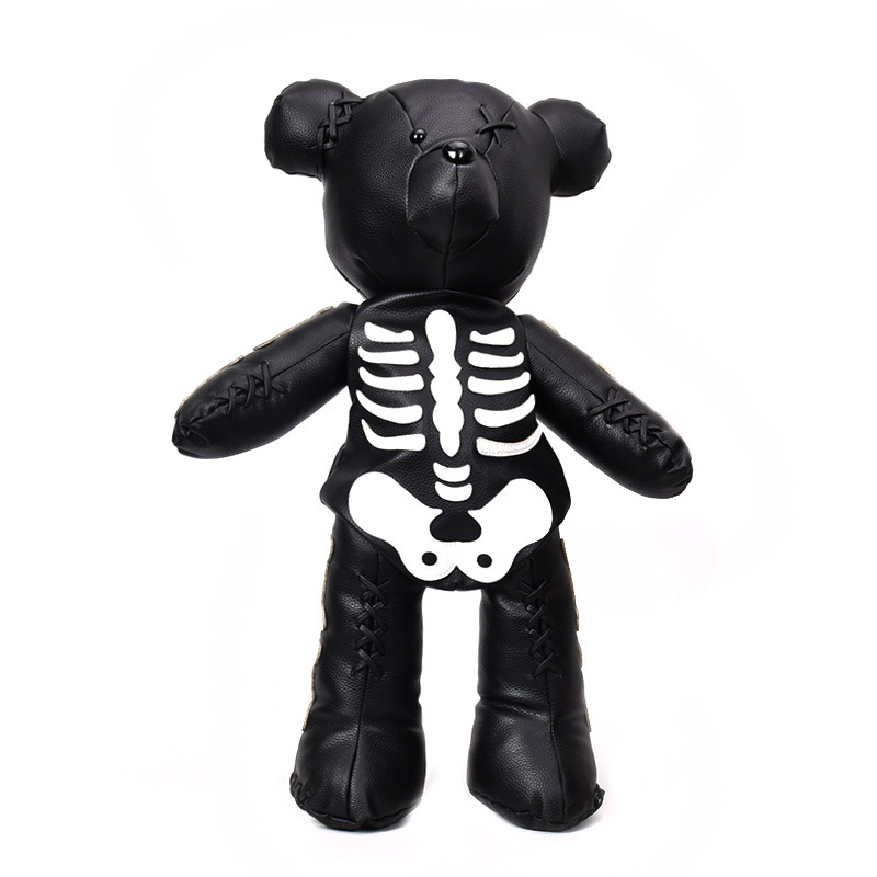 Funny Bagpack Fashion Skeleton Bear Women Leather Backpack Punk Gothic School Bags Designer Backpacks For Adolescent Girls Gifts