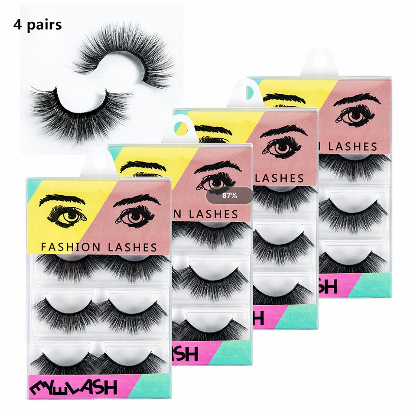Beauty Essentials Beauty & Health Dynamic 2019 New Detachable Eyelashes 3d Mink Lashes Natural Lashes Mink Eyelashes 4 Pairs Beauty False Eyelashes Cilios Maquiagem Limpid In Sight