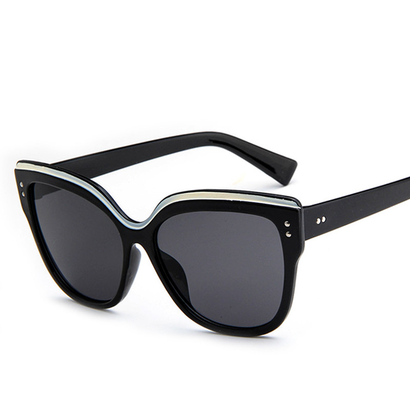 Women Cat Eye  Eyebrows Frame Sunglasses Men Retro Sun Glasses Design Sunglass Reflection Mirror Shades reflection