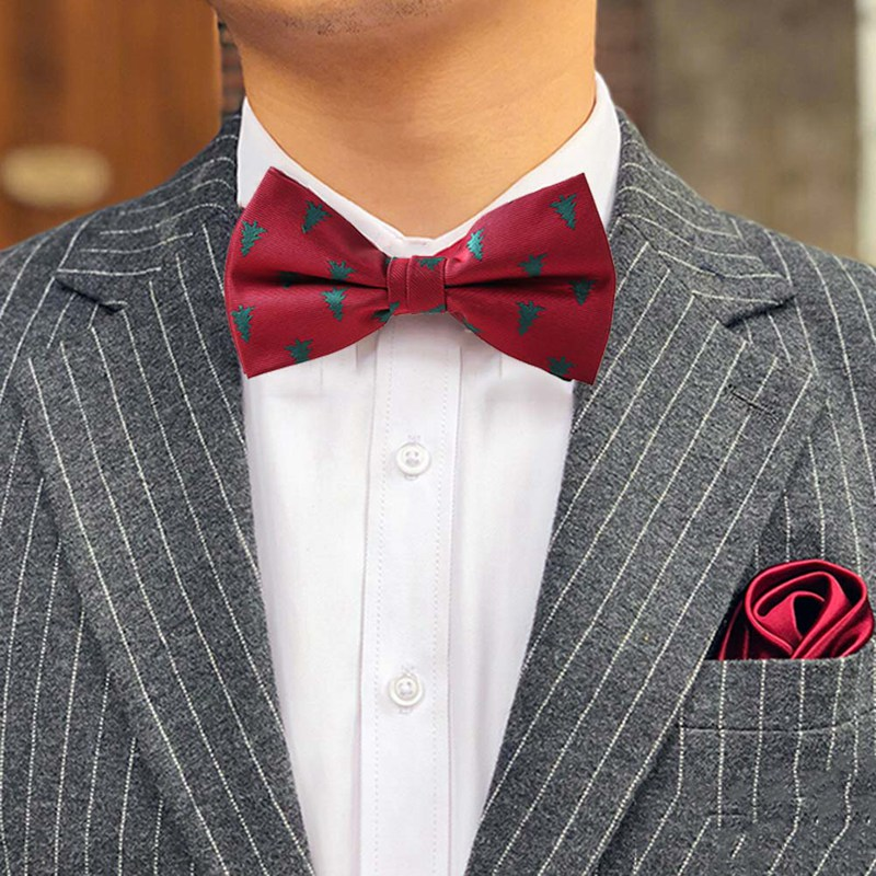 Christmas Bow Tie Men S Fashion Black Bowtie Red For Festival Green