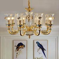 Французский Мурано Стекло люстра гостиная столовая хрустальные люстры спальня лампа Вилла Свадебные украшения освещения
