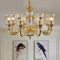 French Murano Glass Chandelier living room dining room crystal chandeliers bedroom lamp villa Wedding Decoration lighting