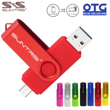 Sunstrsi USB Flash Drive for Android Smart Phone 64GB 32GB OTG pendrive Metal 16GB OTG usb stick 8GB