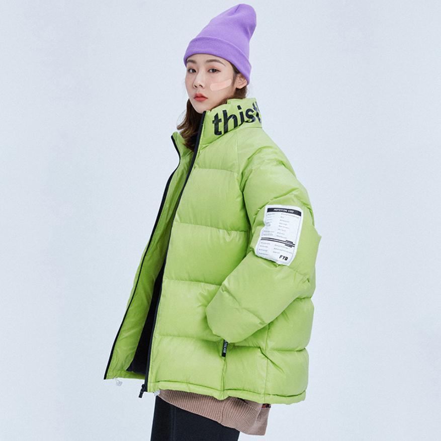 Black L1692 Chaud Femmes De Mode Pain Conception Dropshipping Streetwear Personnelle Survêtement Manteau Vers Le pruple Bas Lettre Veste Épaissir Coton Hiver Green fluorescent H6Tx4gqww