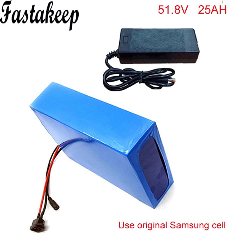 Ebike batterie au lithium 51.8 v 25ah au lithium ion vélo 52 v 1500 w électrique scooter batterie pour kit vélo électrique pour Samsung cellulaire