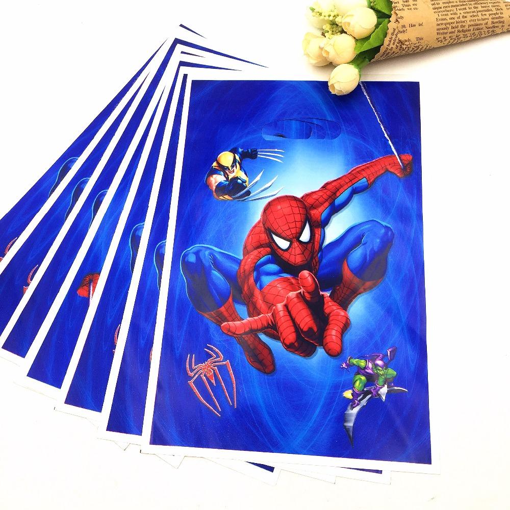 unidsbolsa spiderman fiesta temtica de dibujos animados bolsa de regalo para los nios