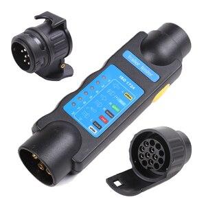 Image 1 - Accesorios para coche Conectores de remolque de plástico de 12 V adaptadores de 7 pines a 13 pines adaptadores y probadores de remolque
