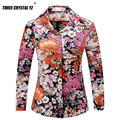 New 2016 Spring Summer Vintage Floral Print Shirt Women's Long Sleeve Fashion Chiffon Blouses Tops Blusas Femininas