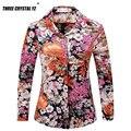 Nueva Primavera Verano 2016 de La Vendimia Camisa de Estampado floral de Moda de Manga Larga de Las Mujeres Blusas de Gasa Tops Blusas Femininas