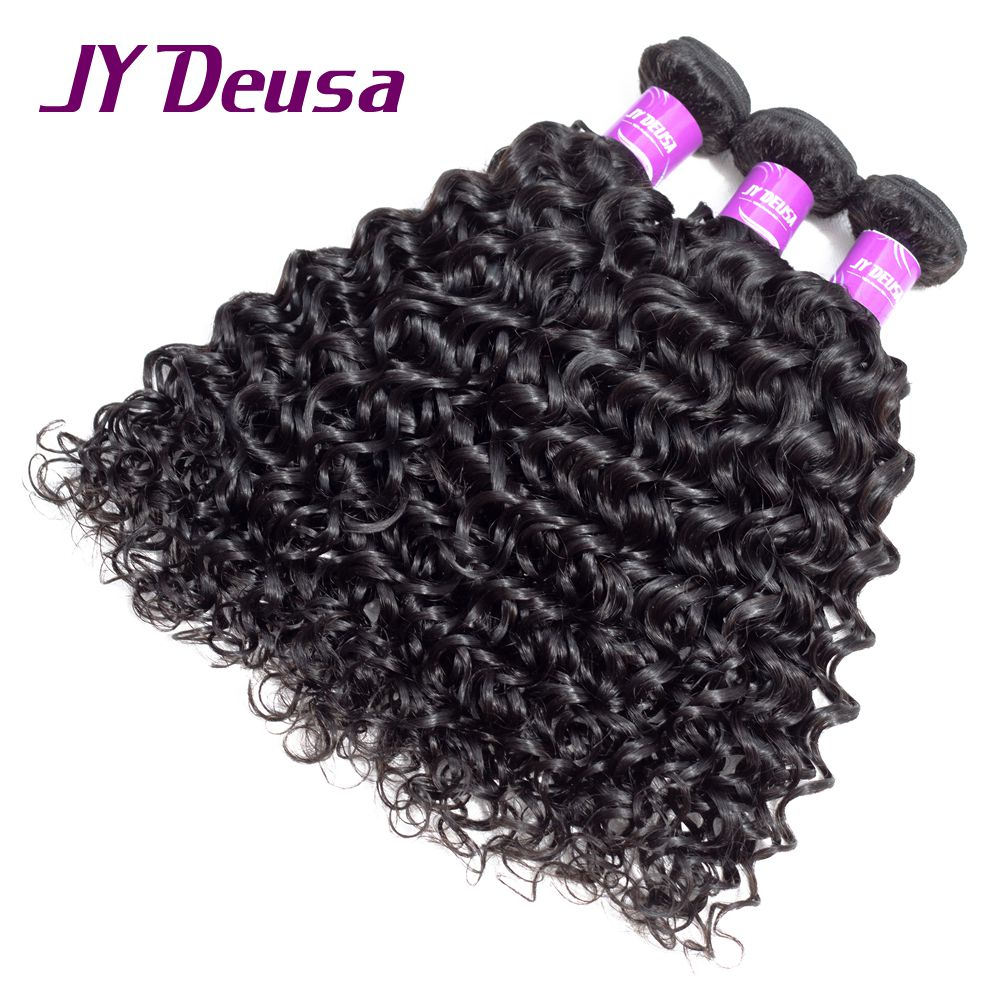 Jy Deusa Peruvian Water Wave Human Hair Weave Bundles 1 3 4 Pcs Only Natural Color None Remy Hair Extension 10-28 Free Shipping
