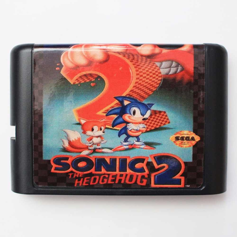 Sonic The Hedgehog 2  16 bit MD Game Card For Sega Mega Drive For Genesis