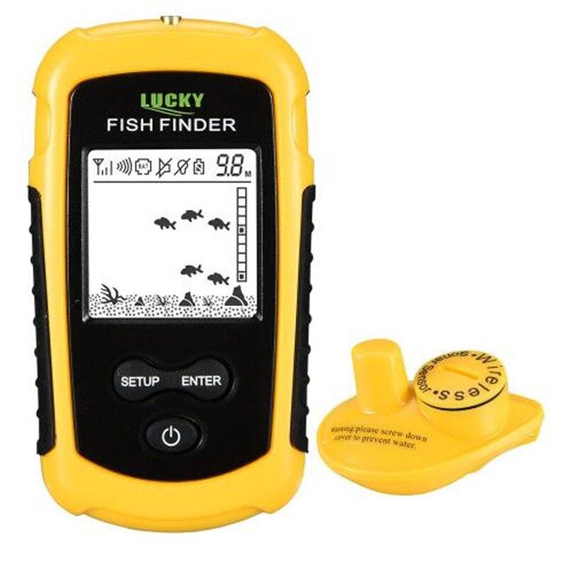 FFW1108-1 chanceux Portable 100 m sans fil détecteur de poisson alarme 40 M/130FT Sonar profondeur océan rivière écho sondeur pour la pêche - 2