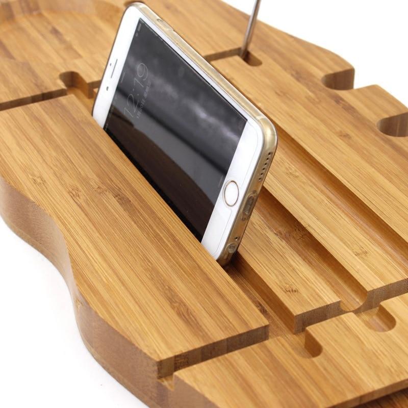 Bamboo Bathtub Tray Handcrafted Bath Tray Bathroom Shelves bathtub ...