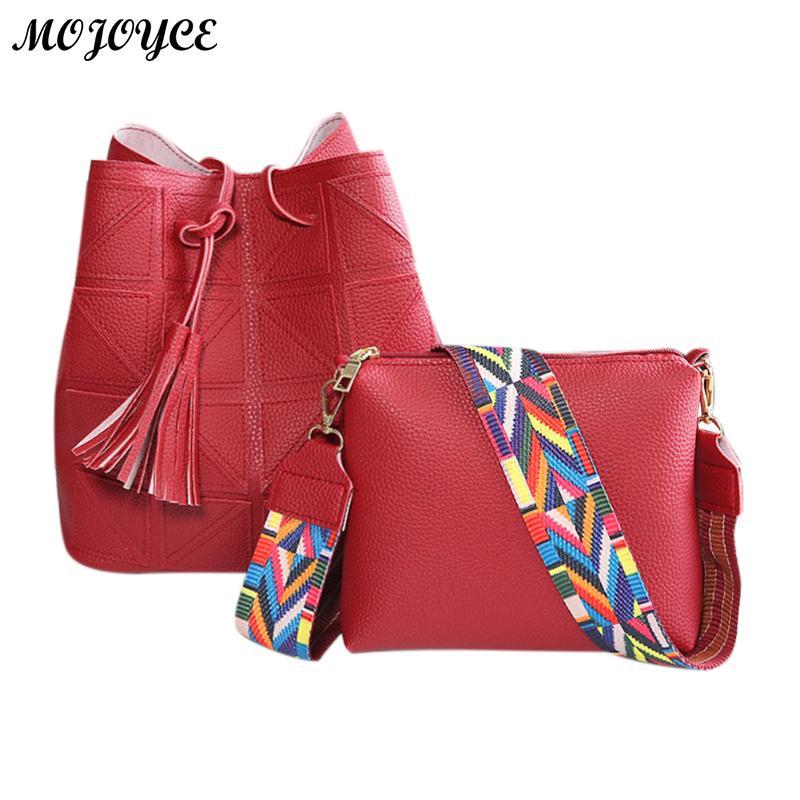 2018 Design Composite Bags Women PU Leather Handbags Crossbody For Bucket Bag Colorful Sling Hasp Ladies Shoulder Messenger Bag