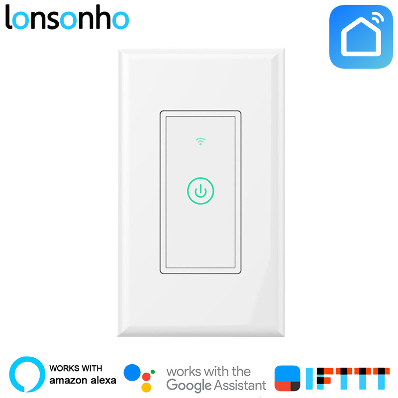 buy lonsonho wifi smart wall switch touch. Black Bedroom Furniture Sets. Home Design Ideas