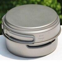 Keith Titanium Cookware Camping Titanium Pots Set Cooking Utensils Cauldron & Frying Pan New Year Christmas Gift w/ Bag Ti6017