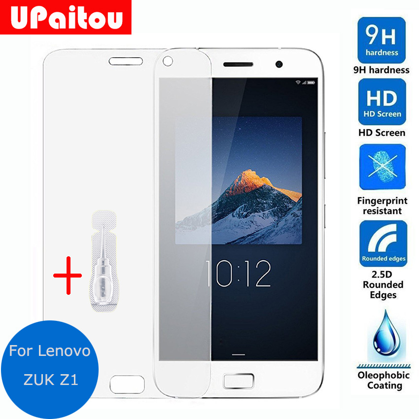 UPaitou Glass For Lenovo ZUK Z1 Dual Tempered glass Screen Protector Clear Safety Protective Glass Film on Z 1 TD-LTE Dual SIM