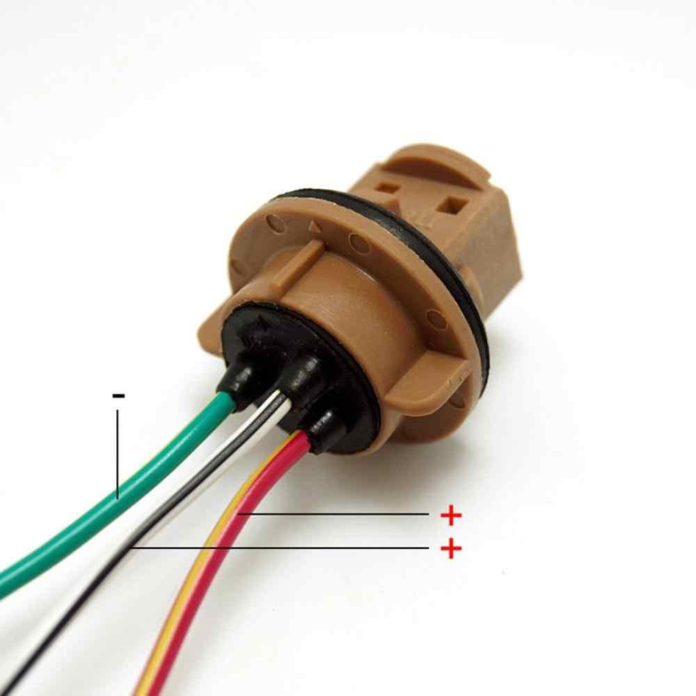 T20 7440 7443 LED W21/5 W Fren Dönüş Sinyali Ampul Tutucu araba soketi Adaptörü