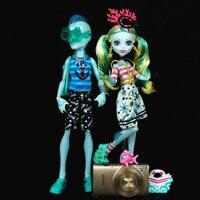 Original Monster Dolls Draulaura Clawdeen wolf Frankie Stein Christmas Birthday Gifts Toys for Girls