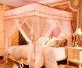 1 UNID 3 Puerta 4 Poste de la Esquina Bed Canopy Mosquitera Completa Mosquiteros de Cama Queen King Size de Compensación con Marco de Acero Inoxidable KR 021