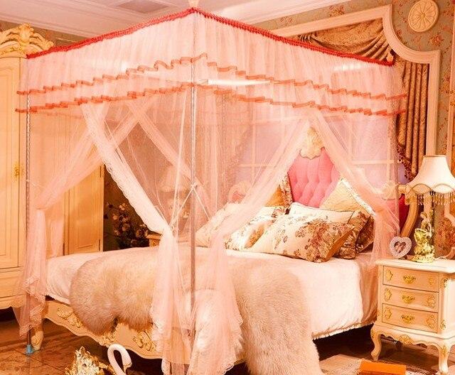 1PC 3 Door 4 Corner Post Bed Mosquito Net Full Queen King Size Netting  Bedding Nets