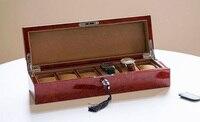 Wysoka Jakość Hurtownie Darmowa wysyłka piano twatch ból Z litego Drewna wyświetlacz pudełko, pudełko Biżuterii