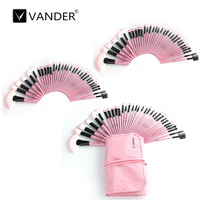 Vander 96pcs 3sets Superior Soft Cosmetic Eyebrow Shadow Foundation Makeup Brush Kit Tool Set With Pouch
