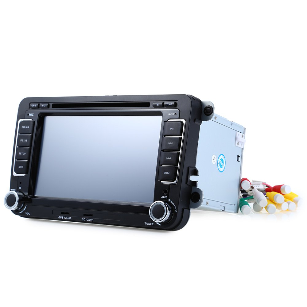 Best price 7 inch double din 16gb car dvd player gps navigation in dash auto