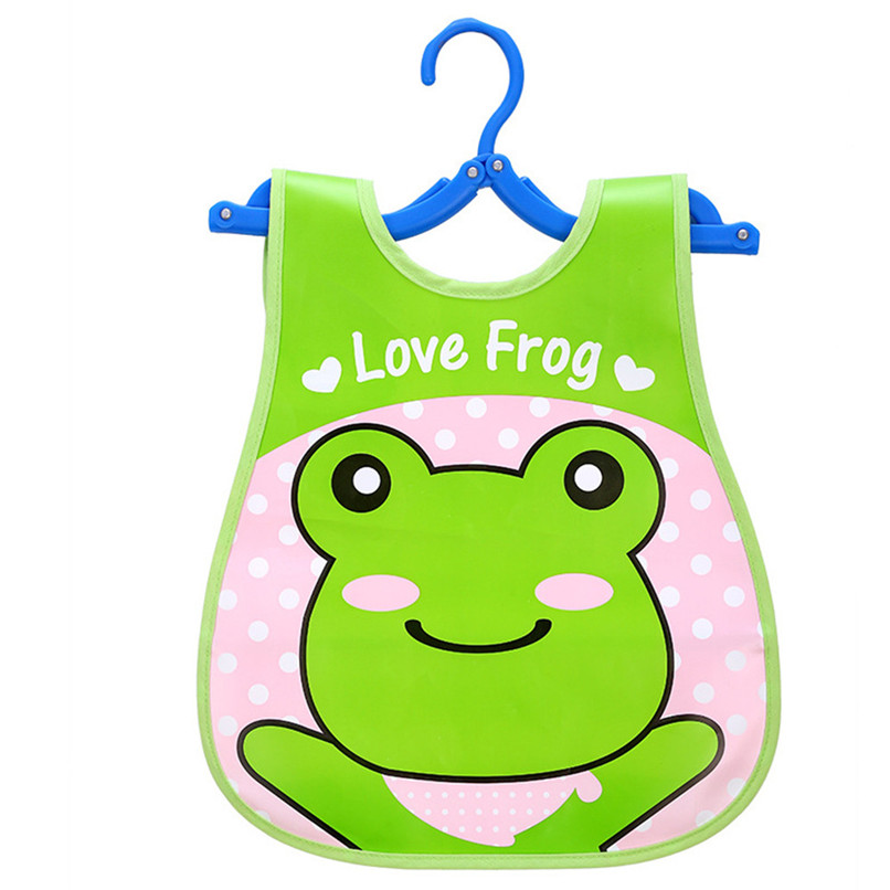 Adjustable Baby Bibs EVA Plastic Waterproof Lunch Feeding Bibs Baby Cartoon Feeding Cloth Children Baby Apron Babador de bebe (25)