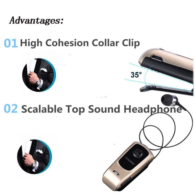 FINEBLUE F920 Earphones Wireless Bluetooth 4.0 Earphones with Calls Vibration Remind Wear Clip Handsfree for Driving update F960