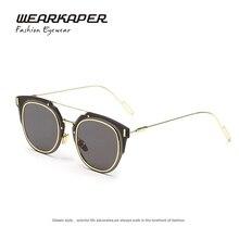 WEARKAPER New Brand Design Women Sunglasses Vintage Round Sunglasses Metal Frame Men Classic Eyewear Oculos De Sol